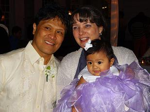 Al and Janice Tizon with granddaughter, Addie