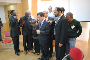 Praying for Pastor Hong